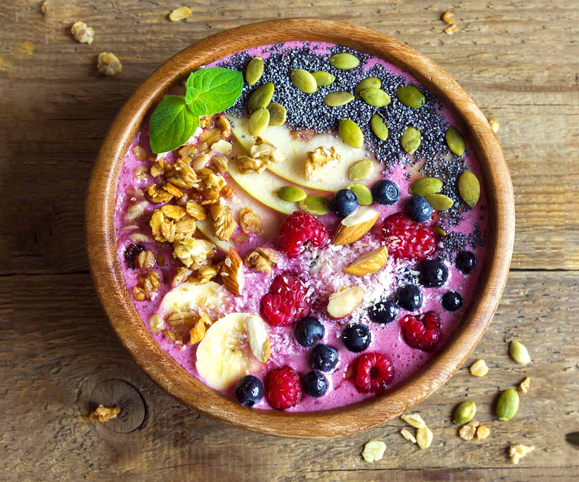 morning breakfast, healthy, acai bowl, organic, natural, recipe